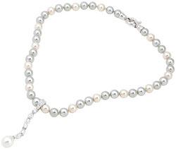 Жемчужные ожерелья с бриллиантами и белым золотом от Swarovski